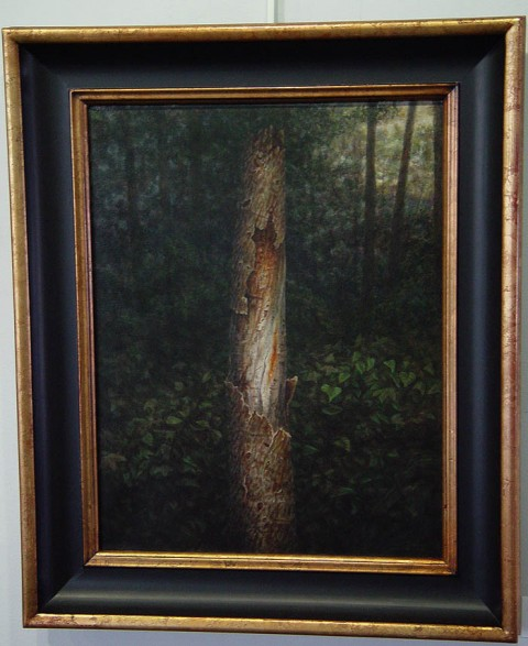 """Twilight in the Wood, 2010, painting by David Jay Spyker, acrylics on canvas, 14"""" x 18"""""""