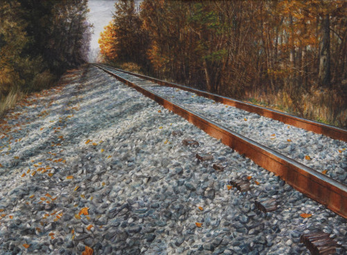 """Northbound"", 2010, Watercolor and Drybrush on Paper, 21 x 28 3/4 in., by David Jay Spyker"