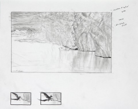 Study for Sudden Flight, 2012, Graphite on Paper (Stonehenge 100% Cotton), 11 x 14 in., by David Jay Spyker