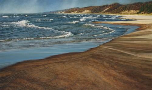 """The Last Days of Autumn"", 2014, Acrylic on Hardboard, 27.75 x 46.25 inches, by David Jay Spyker"