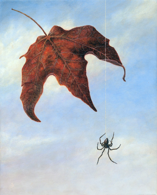 Falling, 2005, Acrylic on Canvas, 10 x 8 in., by David Jay Spyker